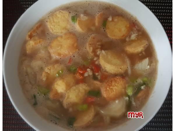Tofu Kuah Saus Tiram Pedas
