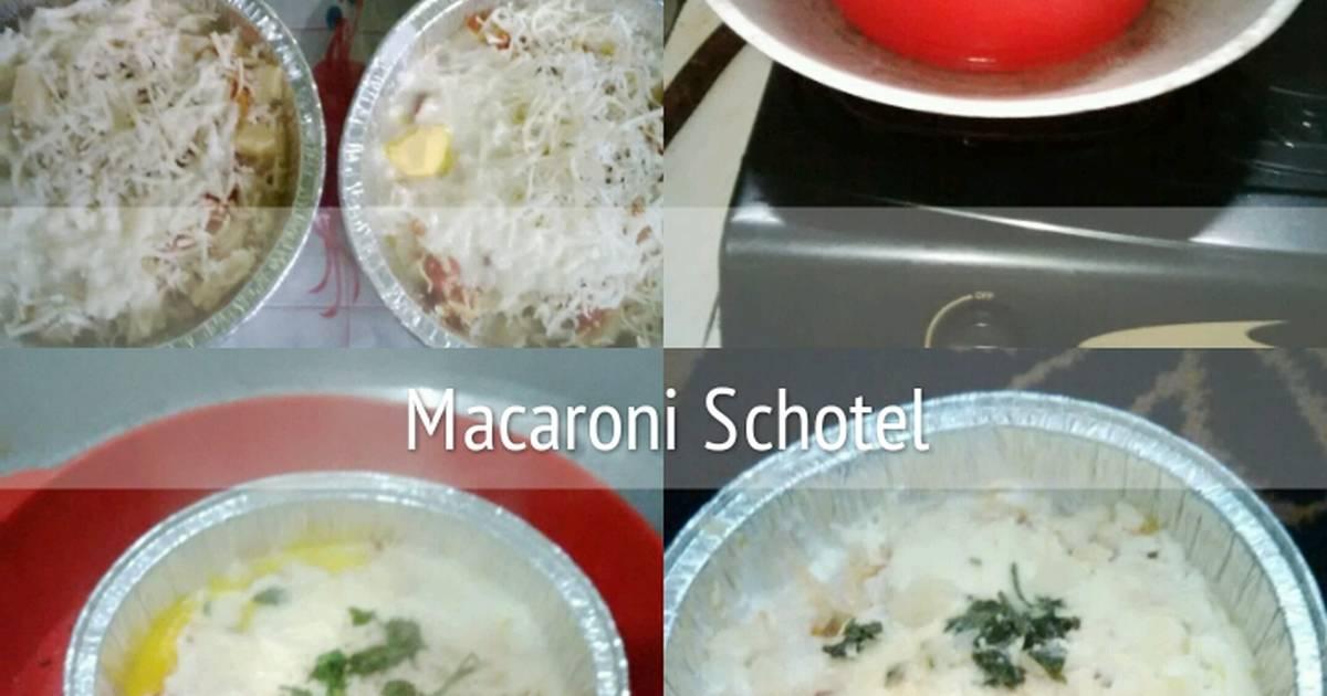 Makkaroni-Auflauf mit Lauch, Champignons und Schinken