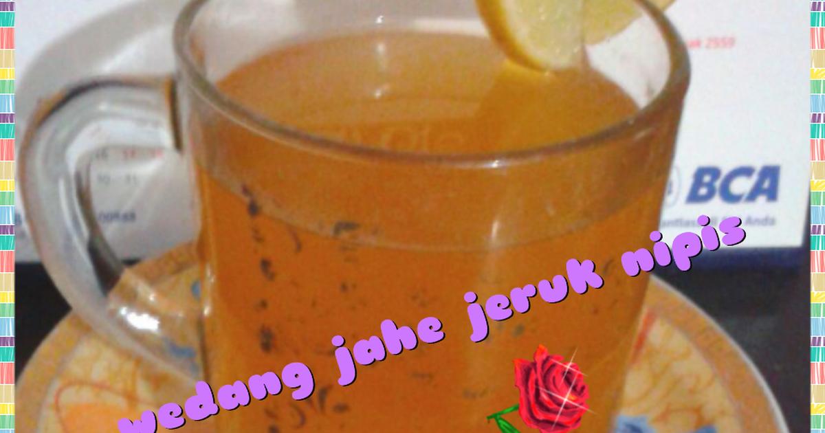 Resep wedang jahe jeruk nipis
