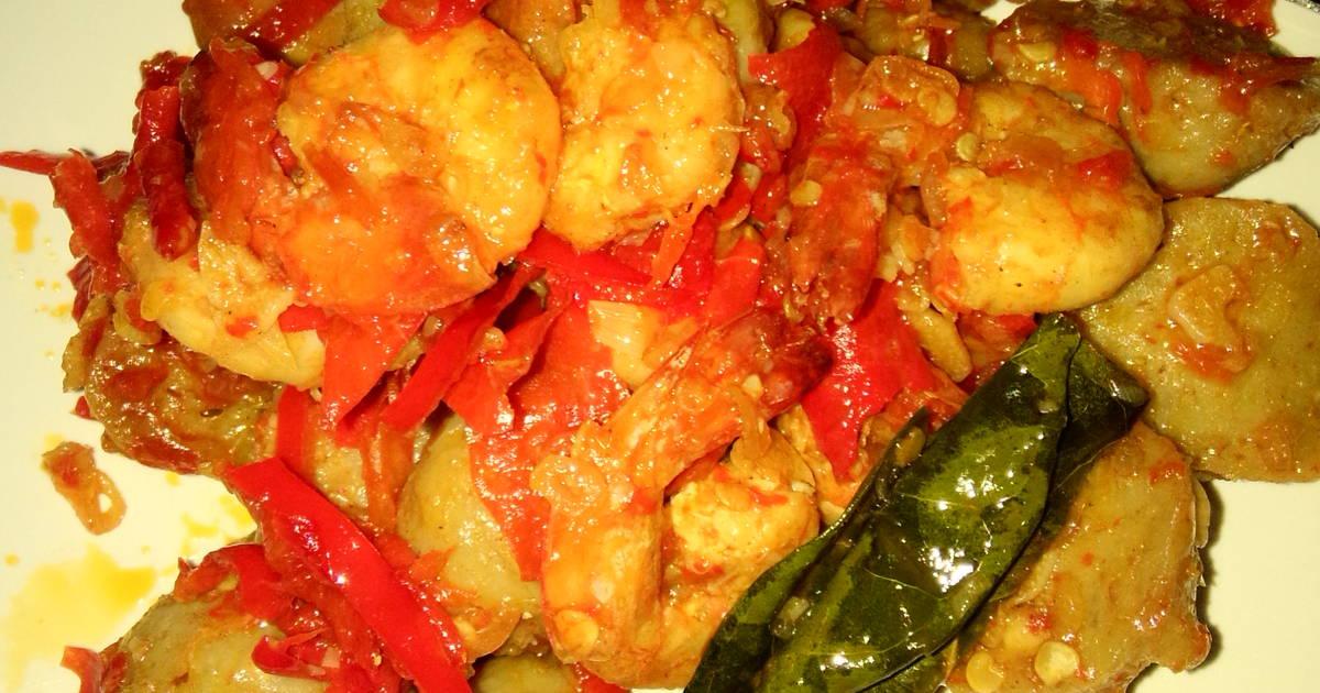 4 resep udang bakso saus padang enak dan sederhana   cookpad