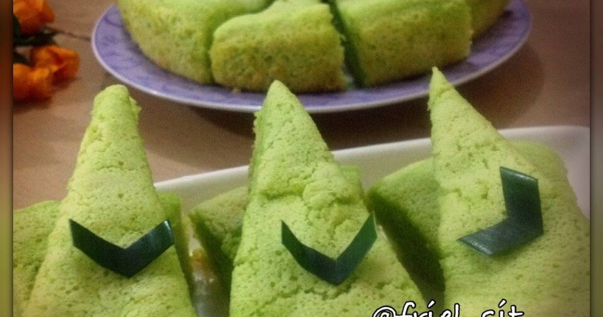 Resep Bolu pandan daun suji - rice cooker
