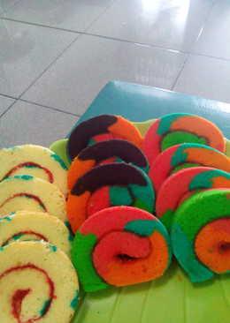 165 Resep Cake Gulung Pelangi Enak Dan Sederhana Cookpad