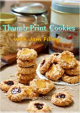 Blueberry Lemon Thumbprint Cookies with Cheese Super nagih