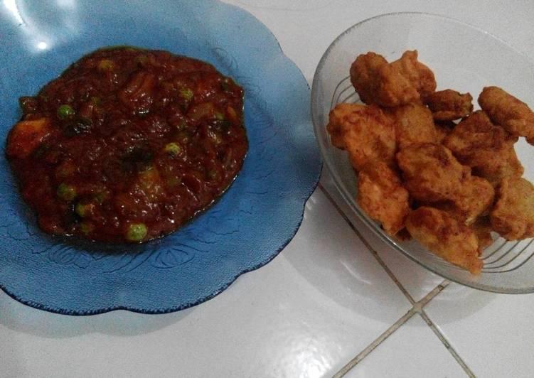 Resep Chicken popcorn barbeque sauce Kiriman dari Anggie Ariandhita