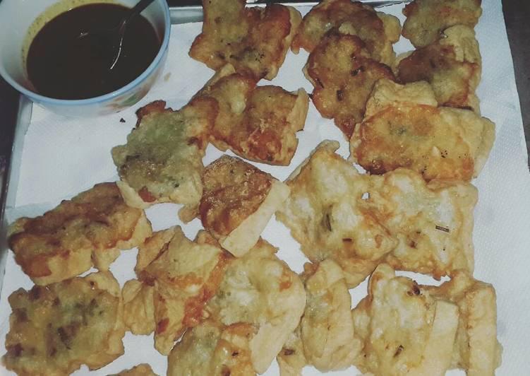 Resep Tahu pletok garing renyah dan sambal kecap kacang pedas By Off