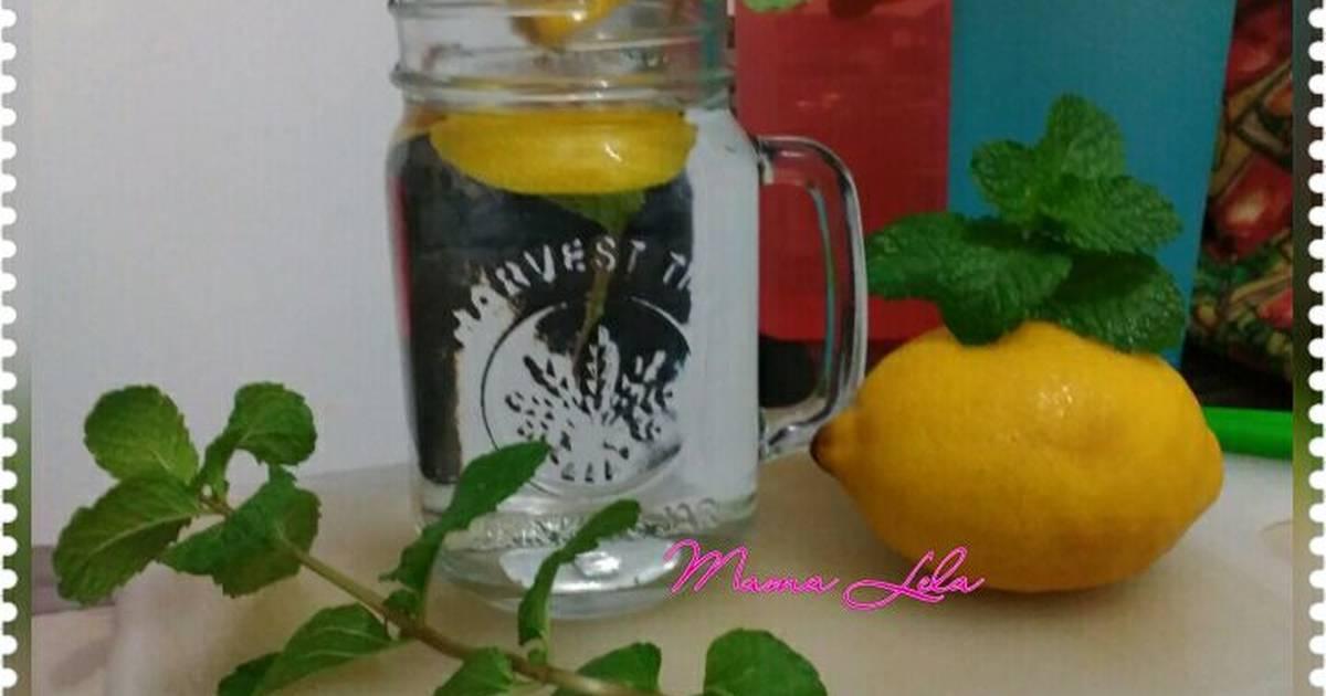 Resep inflused water lemon mint