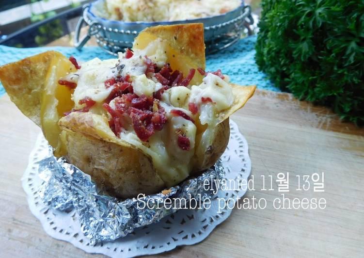 resep makanan Scramble Potato Cheese