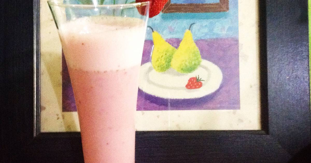 Resep Strawberry smoothie