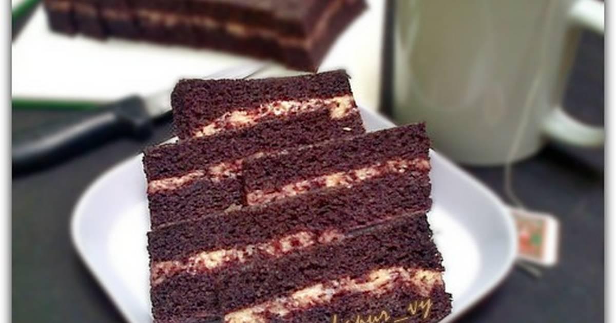 Resep CAKE KUKUS KETAN HITAM Lapis KEJU