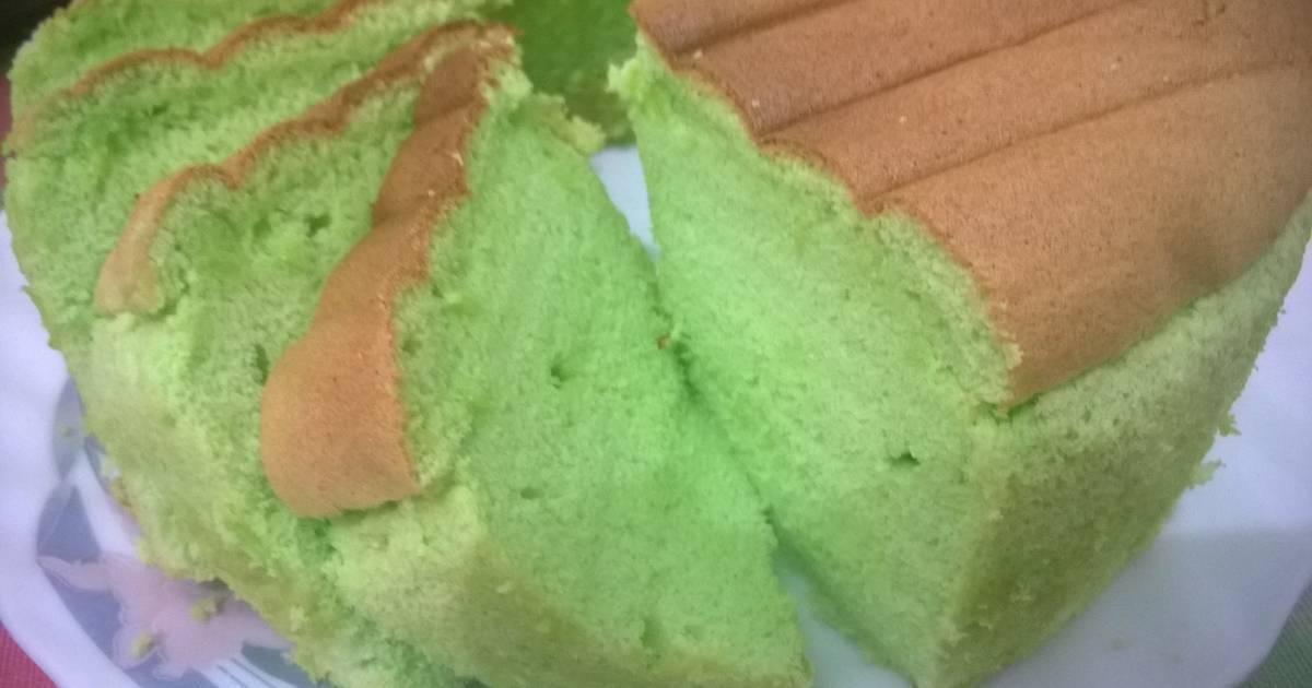 Resep Chiffon Cake Pandan Vanilla