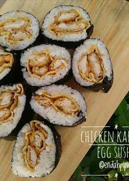 Chicken Karaage Egg Sushi