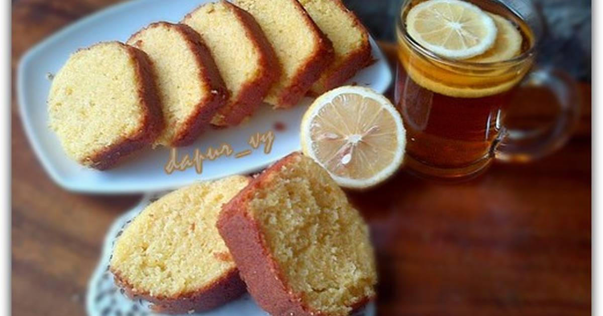 Resep LEMON Butter Cake siram Lemon Glazed