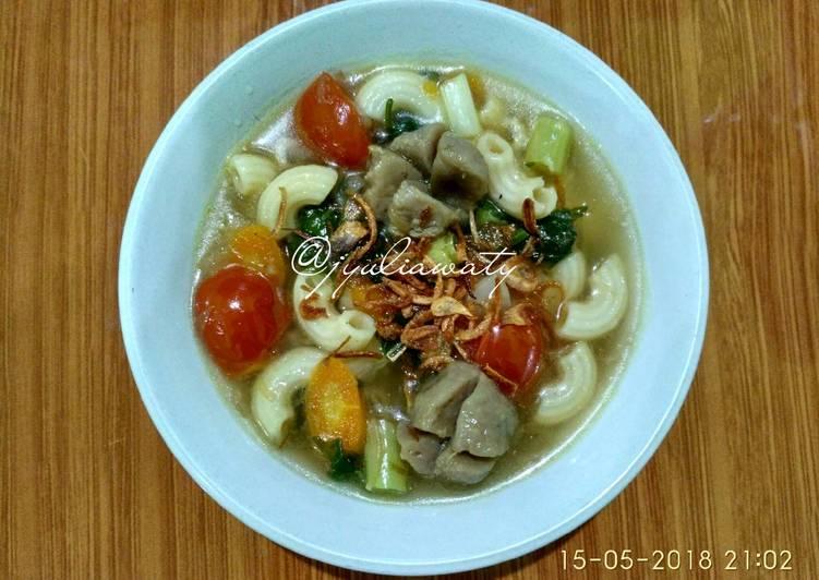 #7 - Sayur Sop Baso Macaroni #SelasaBisa