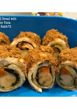 Roll Bread with Abon Tuna Bekal Anak