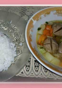 Sup bakso sapi simple