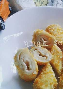 Roll roti tawar keju goreng sehat - bekal anak