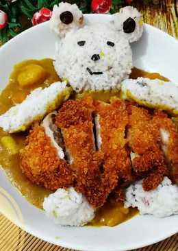 Japanese curry rice with chicken katsu