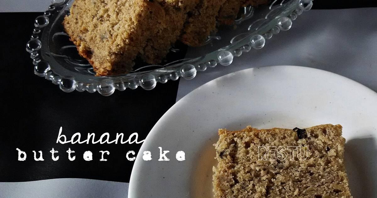 Resep BANANA BUTTER CAKE a la Koh Andre