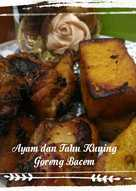 Ayam dan Tahu Kuning Goreng Bacem