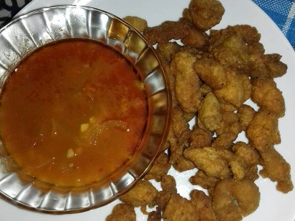 Ayam Crispy Saus Pedas