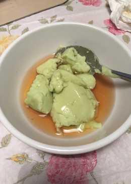 Bubur Sumsum green tea dengan maple syrup #pekaninspirasi