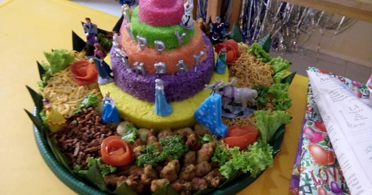 Resep Tumpeng Rainbow Oleh Dilla Cumiel Cookpad
