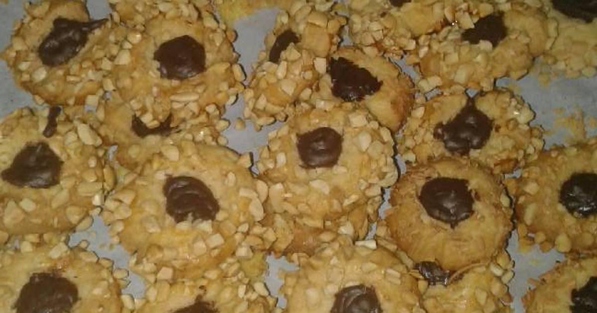 Resep Peanut choco thumbprint cookies