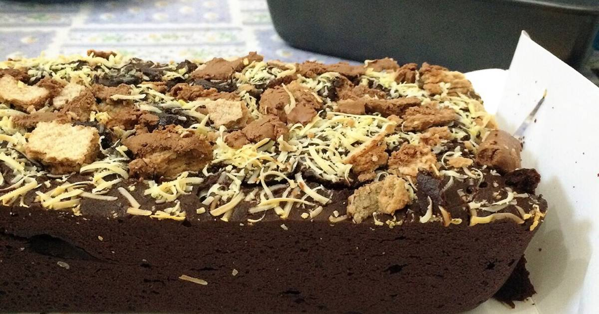 Resep Brownies Kitkat Lumeeerr No Mixer Oleh Fitrilia