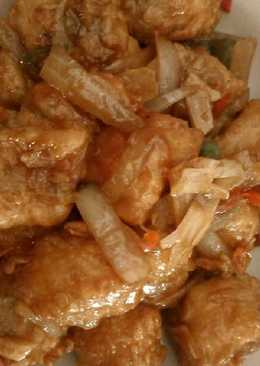 Gurame tepung saus teriyaki