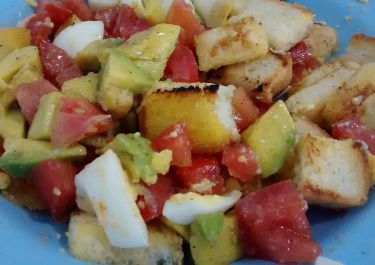 gambar untuk resep Avocado salad 10 mnt