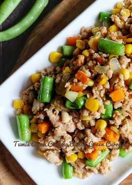 Tumis Ayam Cincang Bumbu Green Curry