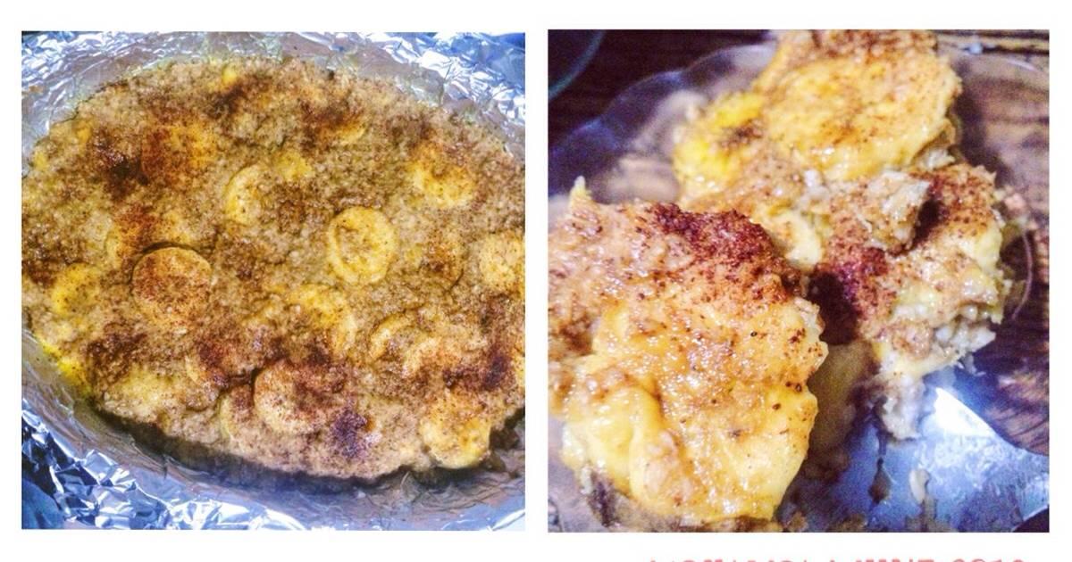 Resep Nagasari pisang oatmeal tanpa santan