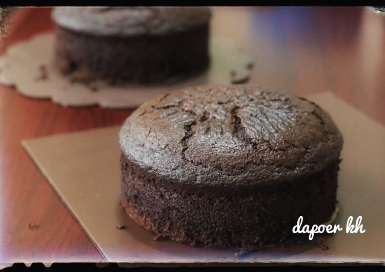 cara membuat Dark Chocolate Cake (simple)