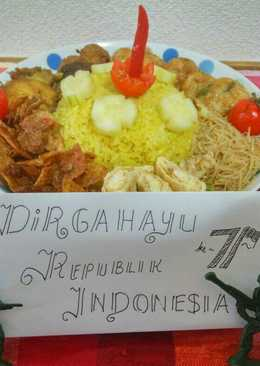 Nasi Kuning magicom sederhana HUT RI from Japan
