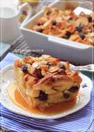 Apple Bread Pudding with Caramel Sauce 👍👍👍
