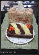 Brownies chokolatos (no mixer no oven)