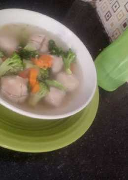 Sop bakso simple