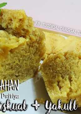 Cake/ Bolu 2 bahan BISKUAT + YAKULT