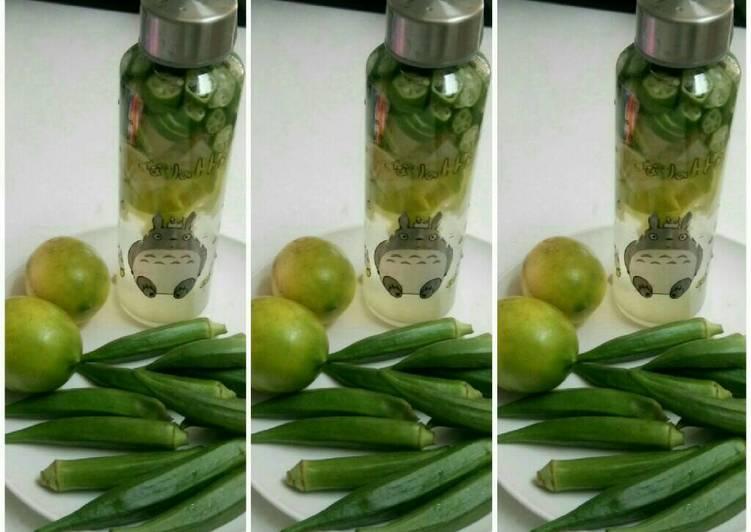 okra yang dibuat oleh Mia Shary cukup untuk  Resep Minuman Lemon+okra Oleh Mia Shary