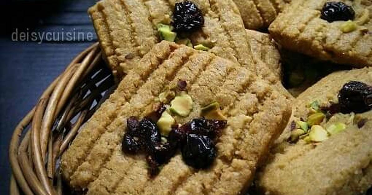 Resep Speculaas Cranberry Pistachio Cookies