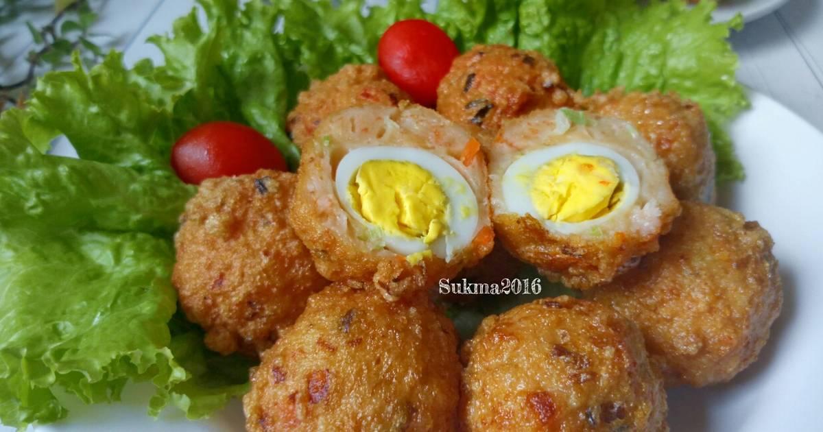 1 resep bakso udang goreng isi telur puyuh enak dan ...