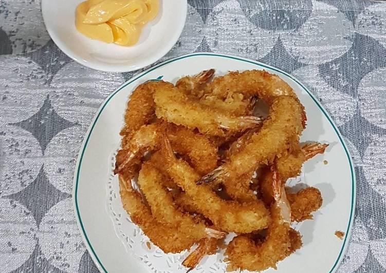 resep Ebi tempura mayonaise aka udang goreng tepung