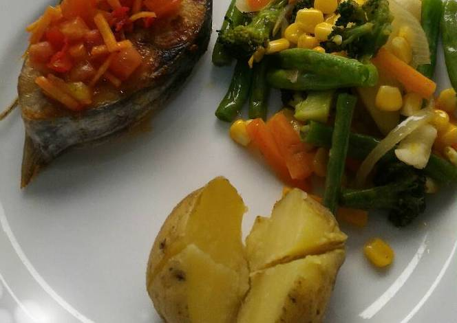 Resep Fish Steak with Tomato Salsa oleh Dewi Rosida - Cookpad
