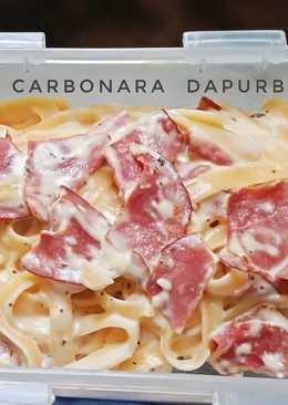Fettucini carbonara (ide bekal anak)
