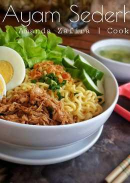 Mie Ayam Sederhana (memanfaatkan sisa olahan ayam)