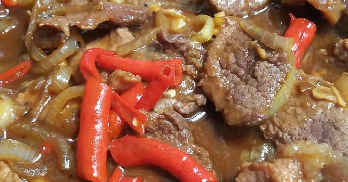 resep tumis sapi lada hitam oleh fauziah imma   cookpad