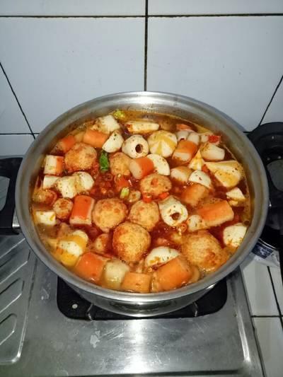 Home made suki kuah tomyam granat ala cici achy