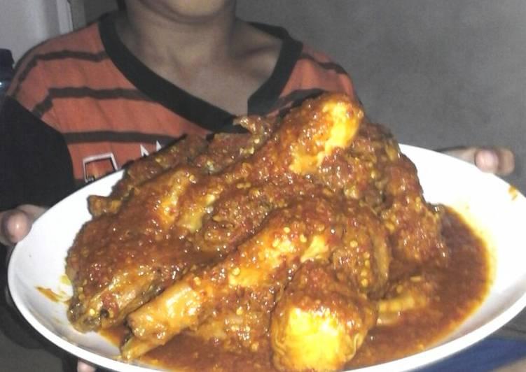 Ayam mask bumbu merah sos tiram