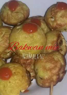 Bakwan mie with snack maker