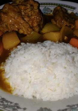 Ribs japanese curry rice